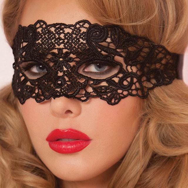 Ажурная маска для карнавала женская