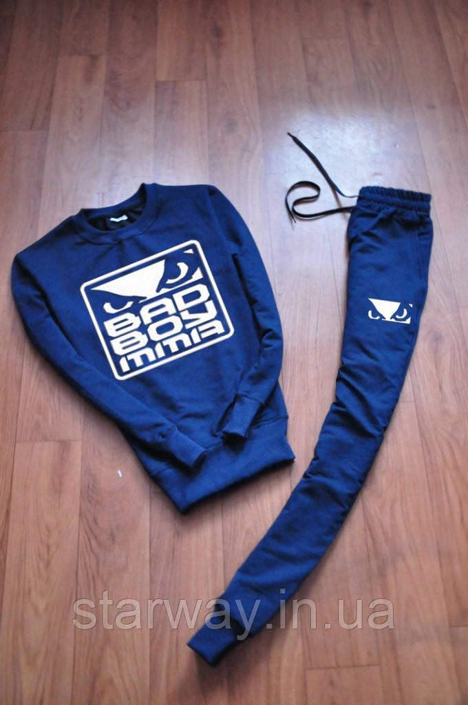 Мужской темно синий спортивный костюм Bad Boy   big logo
