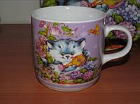 Чашка Котик серый 230 мл