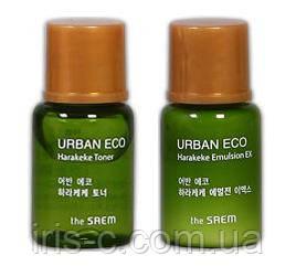 Тоник и эмульсия для сухой кожи THESAEM Urban Eco Harakeke 5+5мл