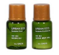 Тоник и эмульсия для сухой кожи THESAEM Urban Eco Harakeke 5+5мл, фото 1