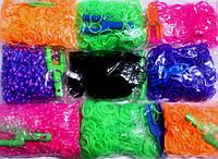 Rainbow loom  - Резинки для плетения 400шт./уп.+клипсы+крючок