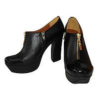 Туфли из натуральной кожи черного цвета,  Т-8 TM Gino Figini