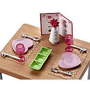 Barbie Меблі для ляльок Відпочинок вдома Обідній стіл / Barbie Dining Set & Kitten, фото 2