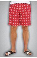 Мужские спортивные шорты красные