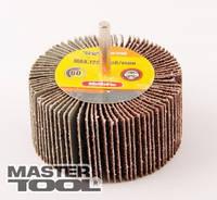 MASTERTOOL Круг шлифовальный лепестковый зерно 40, 80*30 мм со стержнем 6 мм, Арт.: 08-2284
