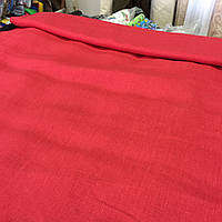 Лён красный яркий, ширина 150 см, фото 1