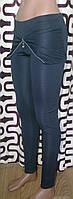 Модные повседневные леггинсы с имитацией мини-юбки цвет черный, фото 1