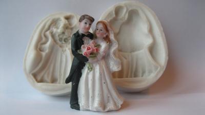 """Силиконовый 3D молд """"Жених невеста 2"""" (код 02614)"""