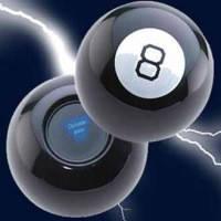 Магический Шар предсказатель принятия решений 10х10 см (шар восьмерка) черный, русский язык
