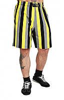 Мужские спортивные шорты черно-желтые, фото 1