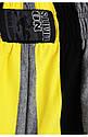 Мужские спортивные шорты черно-желтые, фото 3