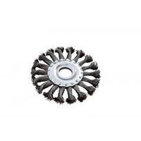 MASTERTOOL Щетка дисковая из плетённой проволоки (отверстие 22,2мм) 115 мм, Арт.: 19-9011