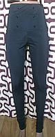 Модные повседневные леггинсы с высокой талией цвет черный, фото 1