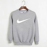Мужской СВИТШОТ Nike (Найк) Gray, black 🔥