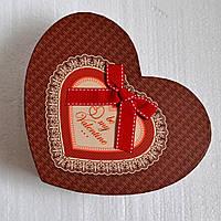 Подарочная коробка на День влюбленных (сердце)