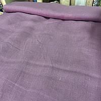 Льон кольору курній бузку, ширина 150 см, фото 1