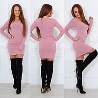 Платье - свитер силуэтное