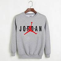 Мужской СВИТШОТ Jordan (Джордан) Gray, black 🔥