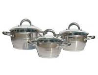 Набор посуды Lessner 55861 Coni из нержавеющей стали 6 предметов