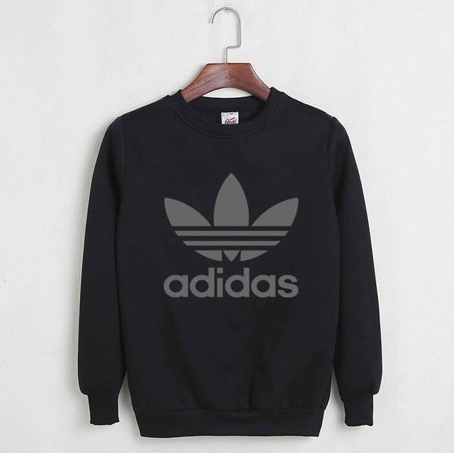 Мужской СВИТШОТ Adidas (Адидас) Black, gray 🔥, фото 1