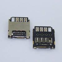 Коннектор Sim Samsung S7568I I9190 I9195 I9198 Galaxy S4 mini