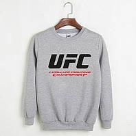 Мужской СВИТШОТ UFC (ЮФС) Gray, black 🔥
