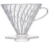 Пуровер Hario V60 02 прозрачный пластиковый для заваривания кофе на 1-4 чашки VD-02T, фото 1