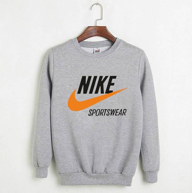 Мужской СВИТШОТ Nike - Sportswear (Найк) Black, gray 🔥, фото 2