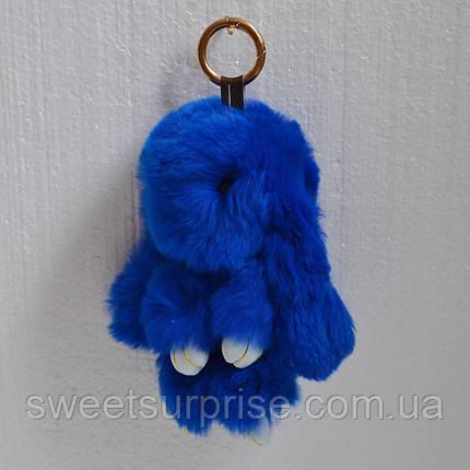 Брелок кролик 16 см. (синий), фото 2