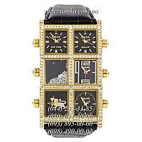 Интересные женские наручные часы Ice Link Ambassador Snow Brilliant Brown-Gold-Brown