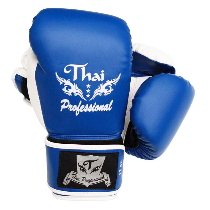 Боксерские перчатки Thai Professional BG8 Синие