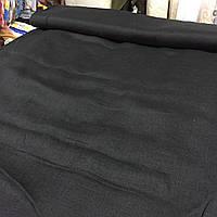 Лён чёрный сорочечный, ширина 150 см