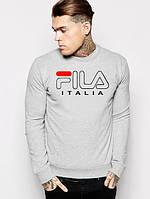 Мужской СВИТШОТ Fila Italia (Свитер Фила Италия) Gray, black 🔥