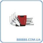 Набор ключей 6-гр. (HEX) Г-обр 10 пр. (1.27-10 мм) 5102 Force