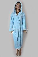Халат женский бамбуковый Nusa (голубой) №3925-1