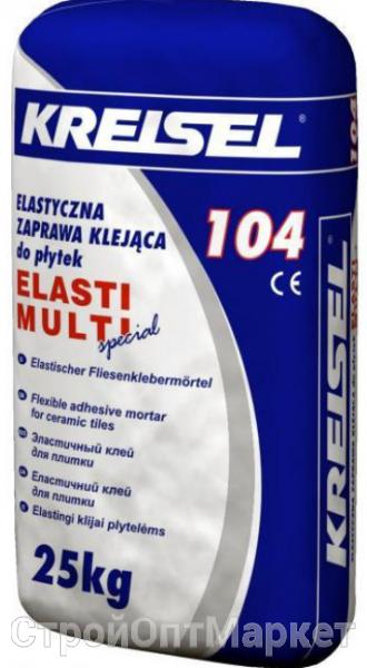 Клей для всіх видів плитки високоеластичний KREISEL ELASTI MULTI 104