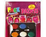 Краски для лица 6цветов №6032