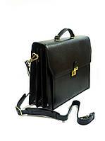 Портфель кожаный катана мужской чёрный 63032