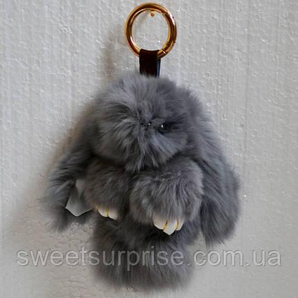 Брелок кролик 13 см. (серый), фото 2