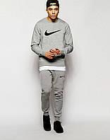 Стильный спортивный костюм Nike, мужской, серый