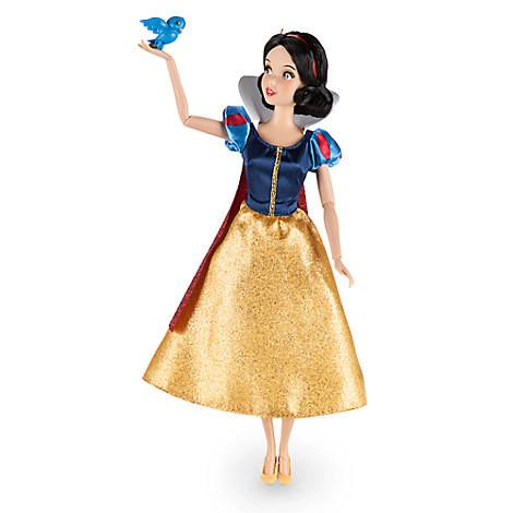Disney Классическая кукла принцесса Белоснежка 30см с птичкой