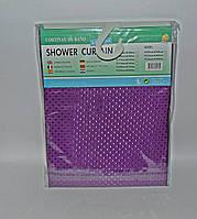 Штора для ванной тканевая однотонная сиреневая, фото 1
