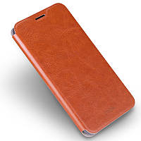 Чехол книжка Mofi для телефона Xiaomi Redmi 4 коричневый
