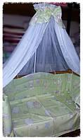 Комплект с балдахином в детскую кроватку Антошка.