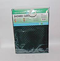 Штора для ванної тканинна однотонна зелена