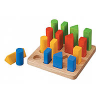 Наборная доска с геометрическими фигурами Plan Тoys (5125)