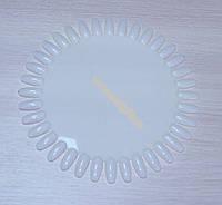 Палитра-дисплей ногтей круглая - для лаков, дизайна; матовая (на 36 цветов)