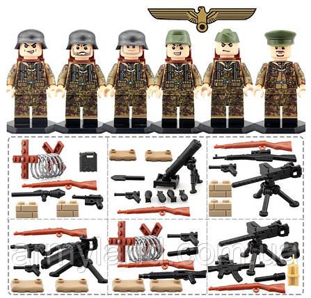 Фигурки военные, Отряд Немецких штурмовых Войск, World of War II, военный конструктор, BrickArms, фото 2