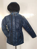 Детская демисезонная удлиненная куртка на подростка, р.36-44